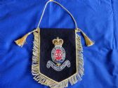 ROYAL HORSE ARTILLERY 3rd REGIMENT ( RHA ) BULLION WIRE EMROIDERED PENNANT